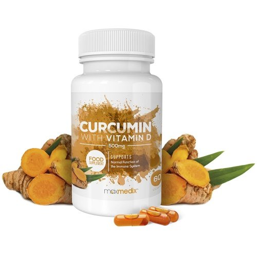 Bottle of Curcumin with Vitamin D